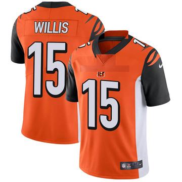 Youth Nike Cincinnati Bengals Damion Willis Orange Vapor Untouchable Jersey - Limited