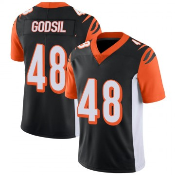 Youth Nike Cincinnati Bengals Dan Godsil Black 100th Vapor Jersey - Limited