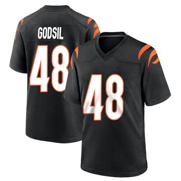 Youth Nike Cincinnati Bengals Dan Godsil Black Team Color Jersey - Game