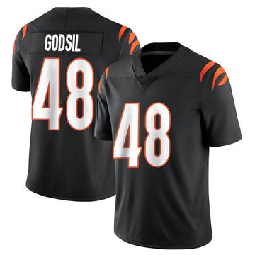 Youth Nike Cincinnati Bengals Dan Godsil Black Team Color Vapor Untouchable Jersey - Limited