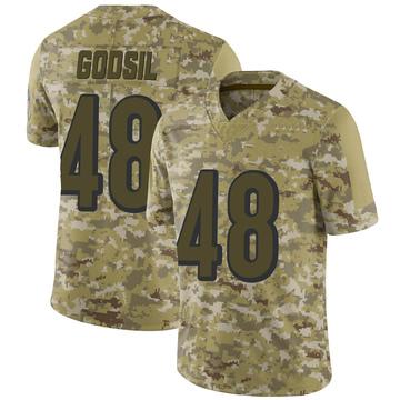 Youth Nike Cincinnati Bengals Dan Godsil Camo 2018 Salute to Service Jersey - Limited