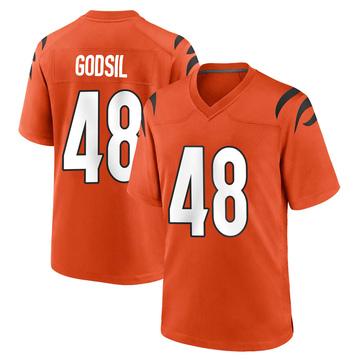 Youth Nike Cincinnati Bengals Dan Godsil Orange Jersey - Game