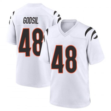 Youth Nike Cincinnati Bengals Dan Godsil White Jersey - Game