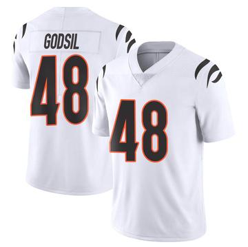 Youth Nike Cincinnati Bengals Dan Godsil White Vapor Untouchable Jersey - Limited