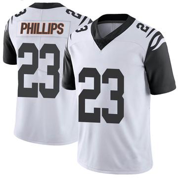 Youth Nike Cincinnati Bengals Darius Phillips White Color Rush Vapor Untouchable Jersey - Limited