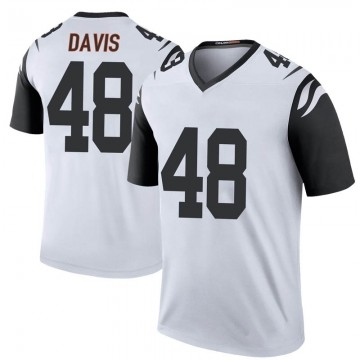 Youth Nike Cincinnati Bengals Deshaun Davis White Color Rush Jersey - Legend