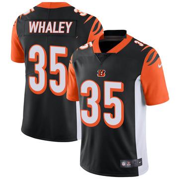 Youth Nike Cincinnati Bengals Devwah Whaley Black Team Color Vapor Untouchable Jersey - Limited