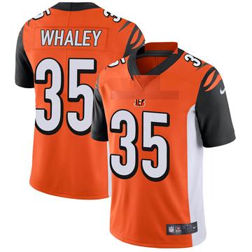 Youth Nike Cincinnati Bengals Devwah Whaley Orange Vapor Untouchable Jersey - Limited