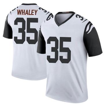 Youth Nike Cincinnati Bengals Devwah Whaley White Color Rush Jersey - Legend