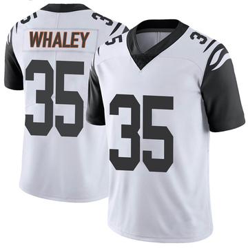 Youth Nike Cincinnati Bengals Devwah Whaley White Color Rush Vapor Untouchable Jersey - Limited