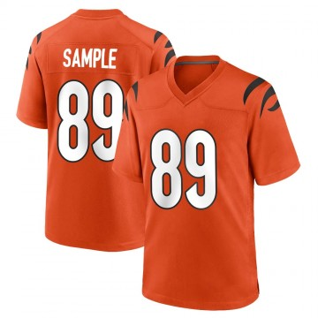 Youth Nike Cincinnati Bengals Drew Sample Orange Jersey - Game