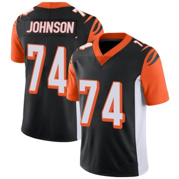 Youth Nike Cincinnati Bengals Fred Johnson Black 100th Vapor Jersey - Limited