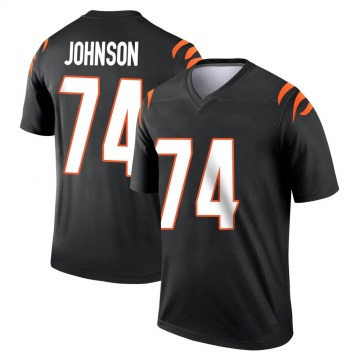 Youth Nike Cincinnati Bengals Fred Johnson Black Jersey - Legend