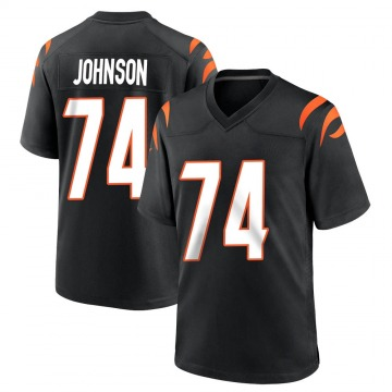 Youth Nike Cincinnati Bengals Fred Johnson Black Team Color Jersey - Game