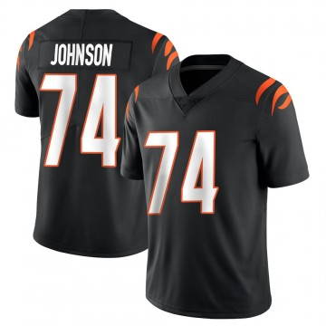 Youth Nike Cincinnati Bengals Fred Johnson Black Team Color Vapor Untouchable Jersey - Limited