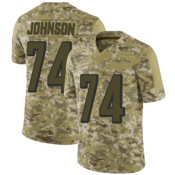 Youth Nike Cincinnati Bengals Fred Johnson Camo 2018 Salute to Service Jersey - Limited