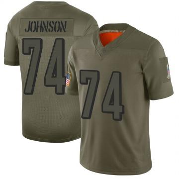 Youth Nike Cincinnati Bengals Fred Johnson Camo 2019 Salute to Service Jersey - Limited
