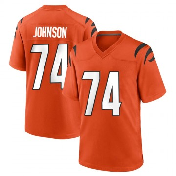 Youth Nike Cincinnati Bengals Fred Johnson Orange Jersey - Game