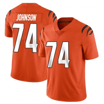 Youth Nike Cincinnati Bengals Fred Johnson Orange Vapor Untouchable Jersey - Limited