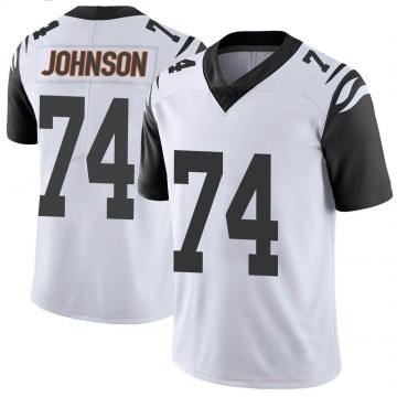 Youth Nike Cincinnati Bengals Fred Johnson White Color Rush Vapor Untouchable Jersey - Limited