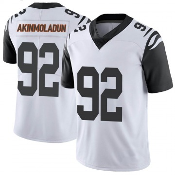Youth Nike Cincinnati Bengals Freedom Akinmoladun White Color Rush Vapor Untouchable Jersey - Limited
