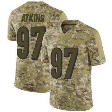 Youth Nike Cincinnati Bengals Geno Atkins Camo 2018 Salute to Service Jersey - Limited