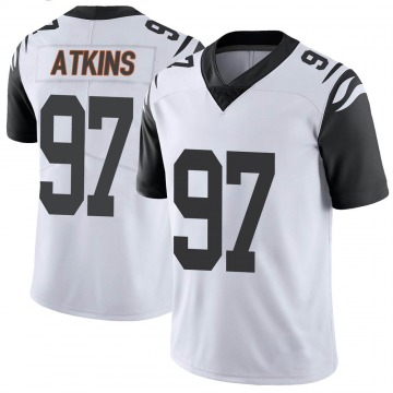 Youth Nike Cincinnati Bengals Geno Atkins White Color Rush Vapor Untouchable Jersey - Limited