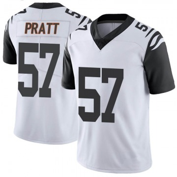 Youth Nike Cincinnati Bengals Germaine Pratt White Color Rush Vapor Untouchable Jersey - Limited