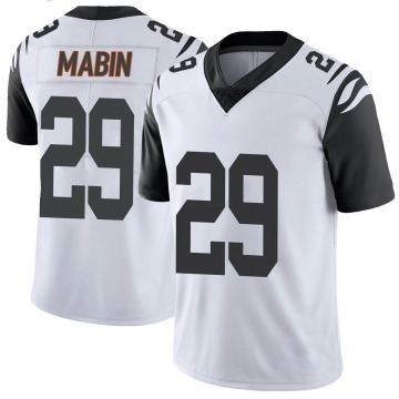 Youth Nike Cincinnati Bengals Greg Mabin White Color Rush Vapor Untouchable Jersey - Limited