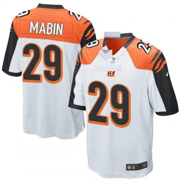 Youth Nike Cincinnati Bengals Greg Mabin White Jersey - Game