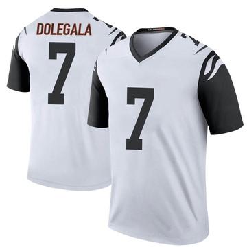 Youth Nike Cincinnati Bengals Jacob Dolegala White Color Rush Jersey - Legend