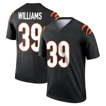 Youth Nike Cincinnati Bengals Jarveon Williams Black Jersey - Legend