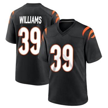 Youth Nike Cincinnati Bengals Jarveon Williams Black Team Color Jersey - Game