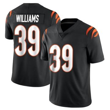 Youth Nike Cincinnati Bengals Jarveon Williams Black Team Color Vapor Untouchable Jersey - Limited