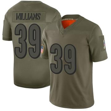 Youth Nike Cincinnati Bengals Jarveon Williams Camo 2019 Salute to Service Jersey - Limited