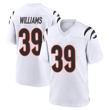 Youth Nike Cincinnati Bengals Jarveon Williams White Jersey - Game