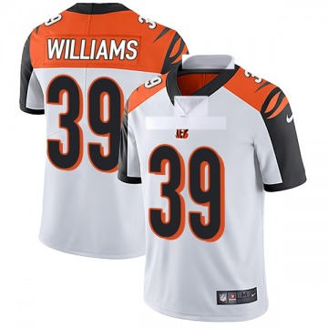 Youth Nike Cincinnati Bengals Jarveon Williams White Vapor Untouchable Jersey - Limited
