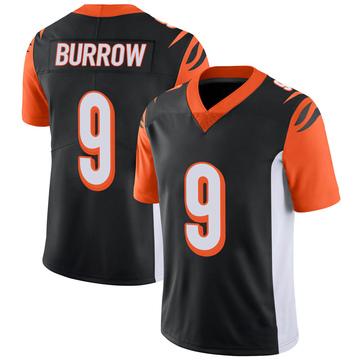 Youth Nike Cincinnati Bengals Joe Burrow Black 100th Vapor Jersey - Limited