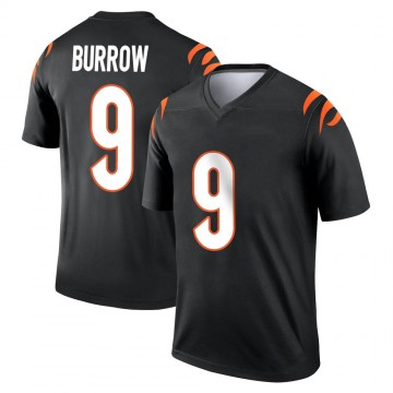 Youth Nike Cincinnati Bengals Joe Burrow Black Jersey - Legend