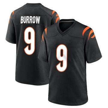 Youth Nike Cincinnati Bengals Joe Burrow Black Team Color Jersey - Game