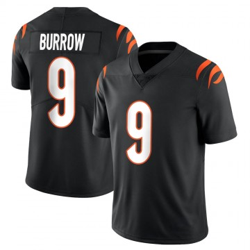 Youth Nike Cincinnati Bengals Joe Burrow Black Team Color Vapor Untouchable Jersey - Limited