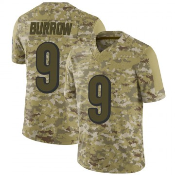 Youth Nike Cincinnati Bengals Joe Burrow Camo 2018 Salute to Service Jersey - Limited