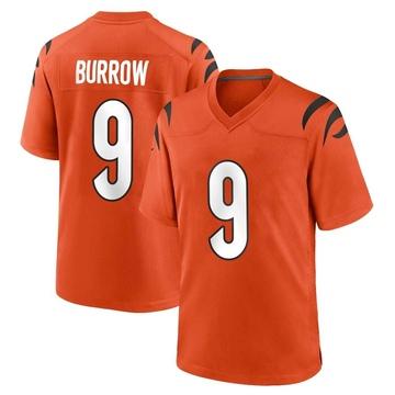 Youth Nike Cincinnati Bengals Joe Burrow Orange Jersey - Game