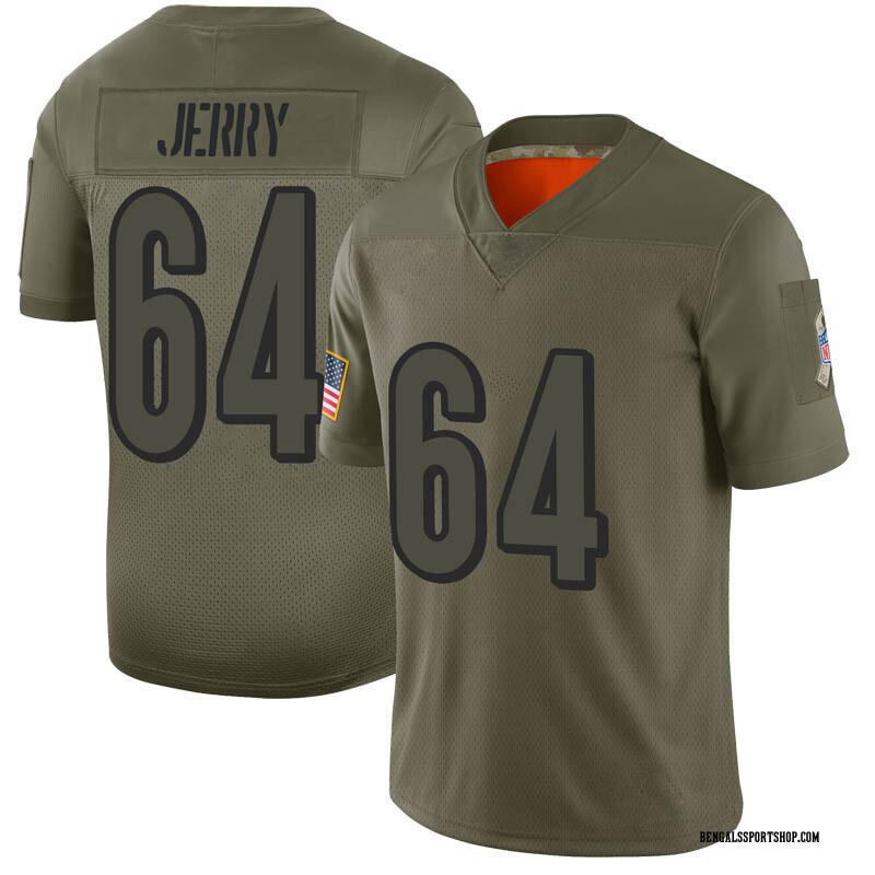 Youth Nike Cincinnati Bengals John Jerry Camo 2019 Salute to Service Jersey - Limited