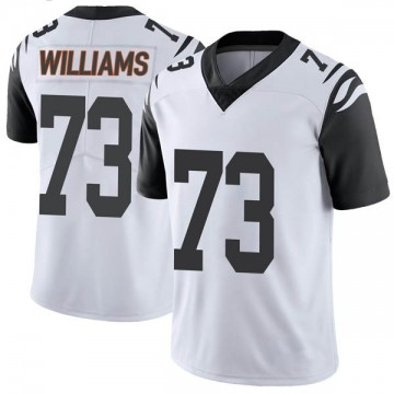 Youth Nike Cincinnati Bengals Jonah Williams White Color Rush Vapor Untouchable Jersey - Limited