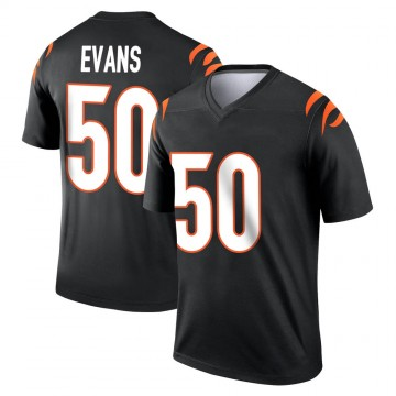 Youth Nike Cincinnati Bengals Jordan Evans Black Jersey - Legend