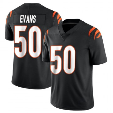 Youth Nike Cincinnati Bengals Jordan Evans Black Team Color Vapor Untouchable Jersey - Limited