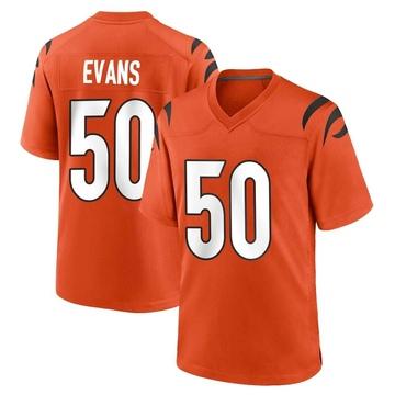 Youth Nike Cincinnati Bengals Jordan Evans Orange Jersey - Game