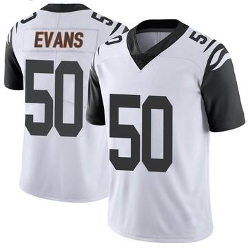 Youth Nike Cincinnati Bengals Jordan Evans White Color Rush Vapor Untouchable Jersey - Limited