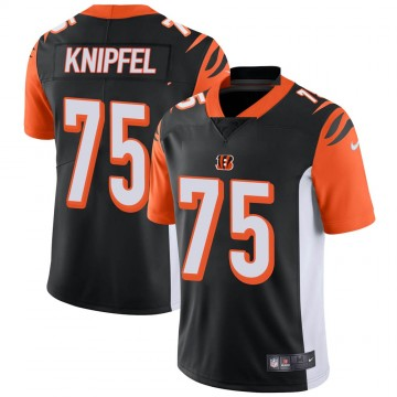 Youth Nike Cincinnati Bengals Josh Knipfel Black Team Color Vapor Untouchable Jersey - Limited